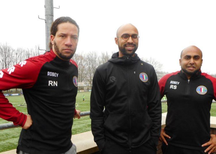 De drie leden van de VTC, van links naar rechts: Ronnie Nouwen, Dwight Krolis en Raymon Schimmel