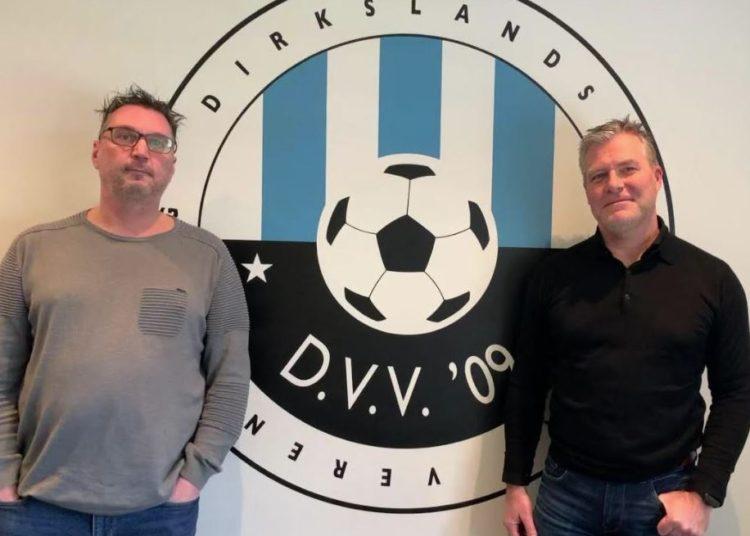 Voorzitter van DVV'09  Rob van Gils (rechts) en penningmeester Wim Groenendijk (links)
